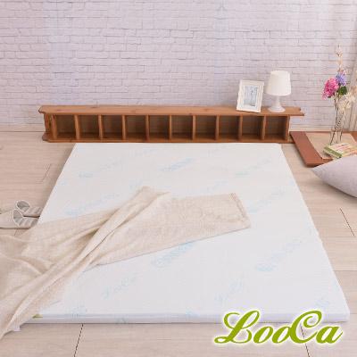 LooCa 水漾天絲5cm高規HT乳膠床墊-加大6尺