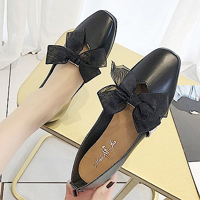 韓國KW美鞋館 流行穿搭典藏百搭平底鞋-黑色