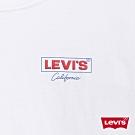 Levis 女款 短袖T恤 寬鬆中短版 高密度膠印Logo 美式復古風 白
