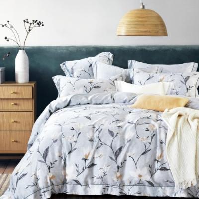 Saint Rose頂級精緻100%天絲兩用被床包組(包覆高度35CM)-杏雨沾衣-雙人