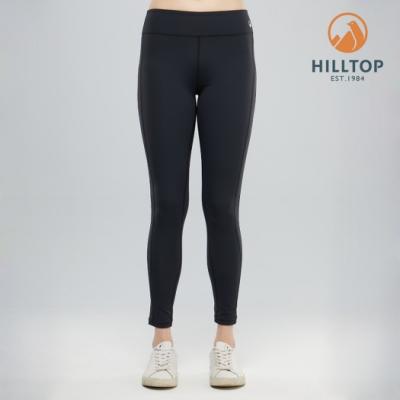 【hilltop山頂鳥】女款吸濕快乾抗菌彈性長褲PS07XFJ5ECAA魚子醬黑
