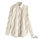 鏈環印花暗排扣襯衫 TATA-(M~XL)