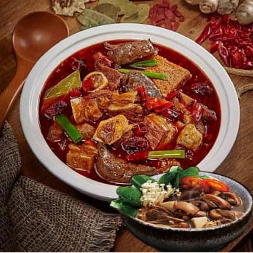 土羊哥 鴛鴦羊肉爐(紅燒帶皮羊肉爐+麻辣羊肉爐)