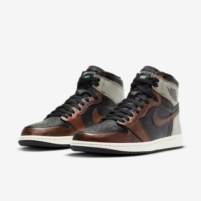 Nike 休閒鞋 AJ1 Retro High OG 男鞋 經典款 喬丹一代 皮革 球鞋 穿搭 黑 棕 555088033