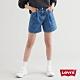 Levis 女款 Ribcage復古超高腰打摺牛仔短褲 / 精工中藍染水洗 / 天絲棉 product thumbnail 2