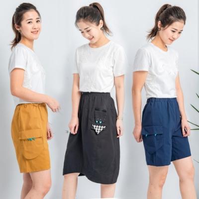 【時時樂】白鵝buyer 童趣口袋韓國製休閒褲/裙款(7色)