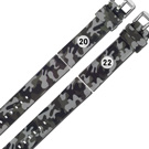 Watchband / 各品牌通用 舒適 輕便 運動 矽膠錶帶 - 迷彩灰色