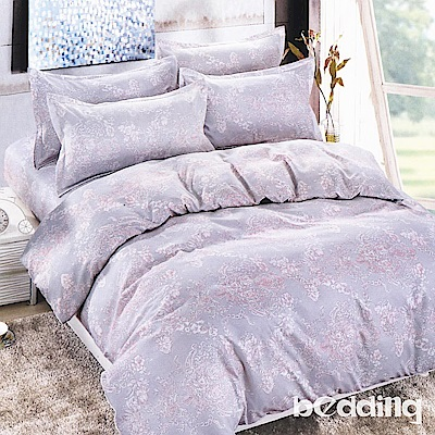 BEDDING-活性印染5尺雙人薄式床包涼被組-凱瑟琳