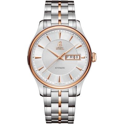 ERNEST BOREL 瑞士依波路錶 復古系列 8280玫瑰金-銀色39.5mm
