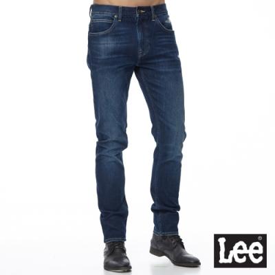 Lee 牛仔褲 705 中腰標準舒適小直筒 男 中深藍 四面彈