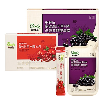 【正官庄】高麗蔘野櫻莓飲 (50mlX30入)/盒 +高麗蔘石榴精華飲Stick(10mL*30包)/盒