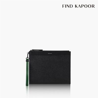 【FIND KAPOOR】CLUTCH 27 十字壓紋系列手拿包- 黑色