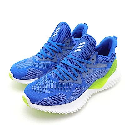 ADIDAS-ALPHABOUNCE女慢跑鞋-藍