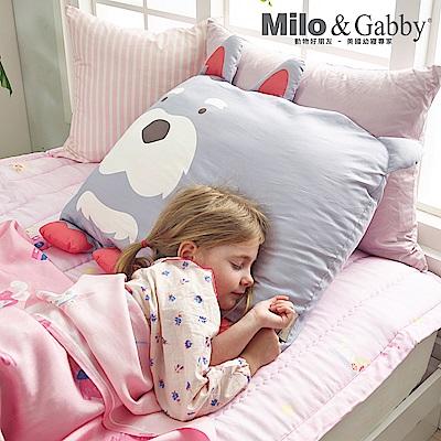 Milo&Gabby 動物好朋友-超細纖維防蹣大枕心+枕套組(PAUL狗狗)
