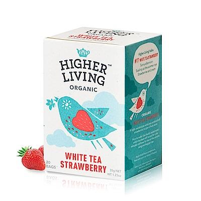 699免運英國HIGHER LIVING 有機草莓白茶包20包共-35g