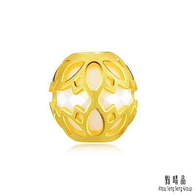 點睛品 Charme 陶瓷鏤空蓮花 黃金串珠