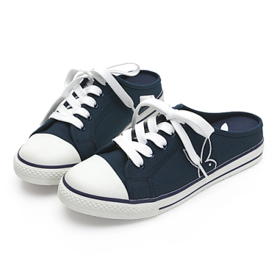 PLAYBOY活力甜心休閒綁帶穆勒鞋-藍-Y6223FF