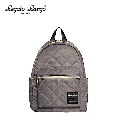 Legato Largo 菱格後背包-灰 LS-G0773GY