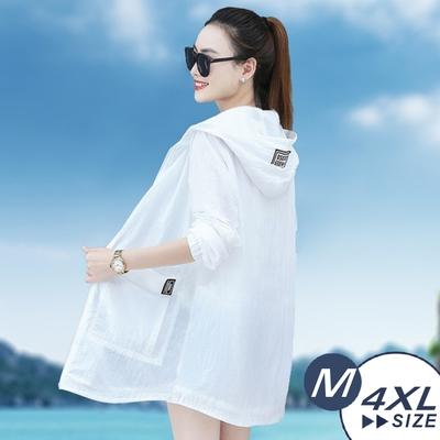 【LANNI 藍尼】現+預 大尺碼輕薄透氣沙灘外套(機能/防曬/運動休閒)