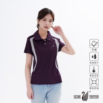 【遊遍天下】MIT女款抗UV吸濕排汗POLO衫GS1063暗紫