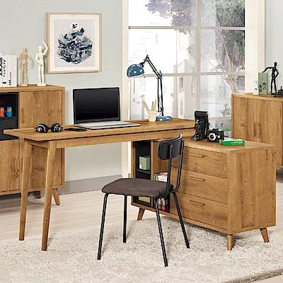 D&T 德泰傢俱 JOJO原切木5尺多功能書桌-140x47x77.5cm
