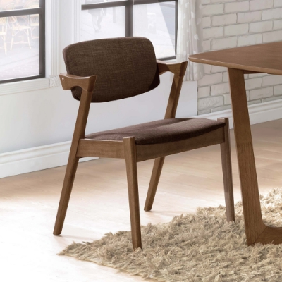 H&D 伯尼淺胡桃咖啡布餐椅