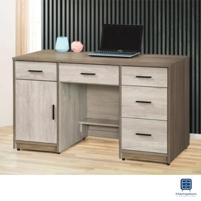 Hampton萊克雙色4.4尺書桌-133x60x78cm