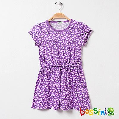 bossini女童-印花連身洋裝11淺紫
