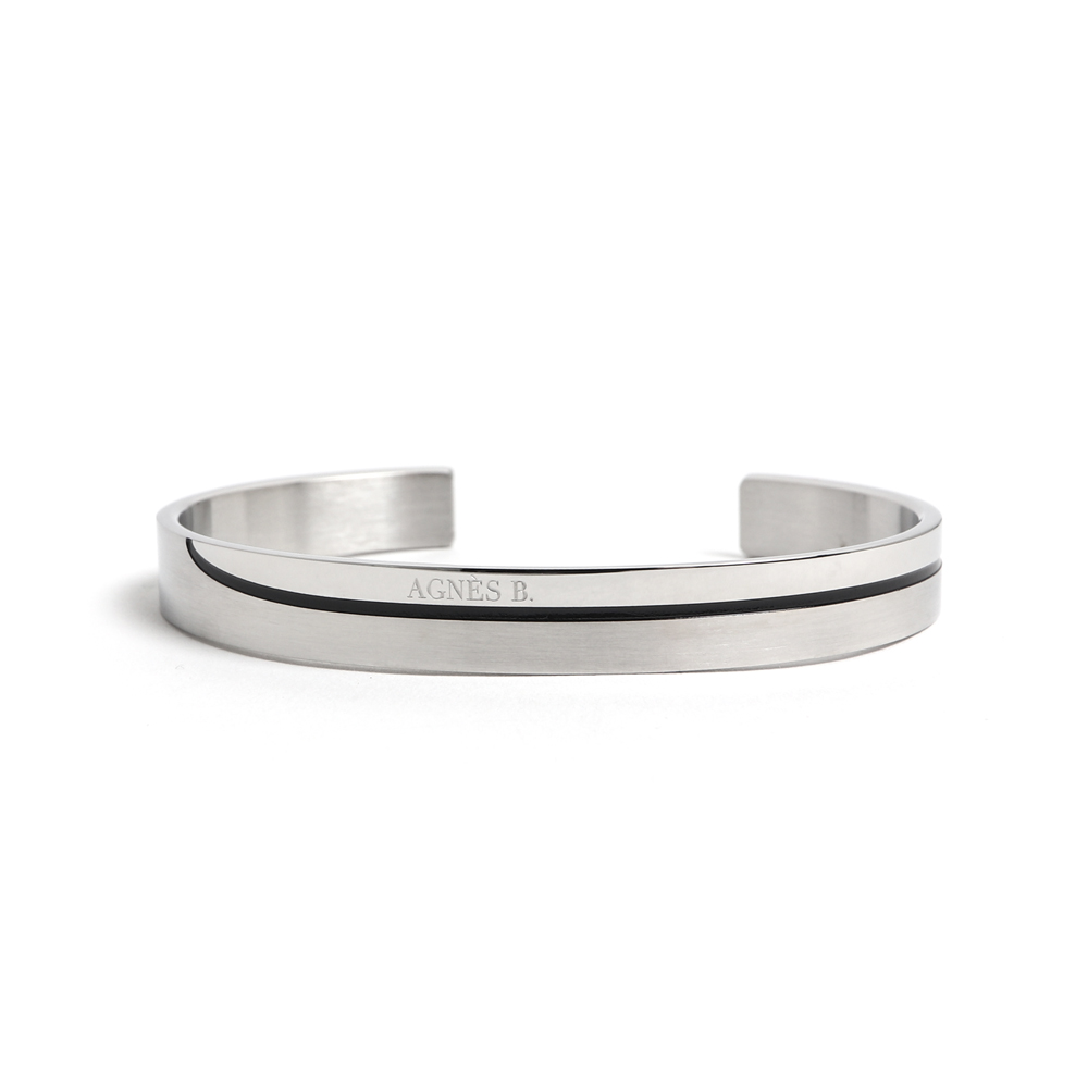 agnes b. logo經典手環