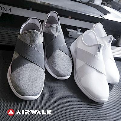【AIRWALK】百搭舒適休閒鞋繃帶鞋-白