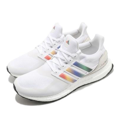 adidas 慢跑鞋 Ultraboost DNA 襪套式 女鞋 海外限定 愛迪達 緩震 透氣 彩虹 穿搭 白 彩 FV7014