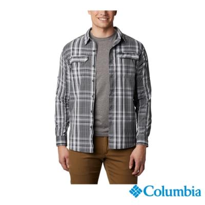 Columbia 哥倫比亞 男款 - Omni-Shade 防曬50快排長袖格紋襯衫-深灰 UAE06490DY