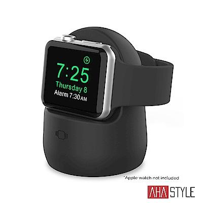 AHAStyle Apple Watch矽膠充電底座 黑色