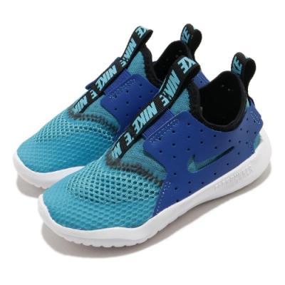 Nike 慢跑鞋 Flex Runner 運動 童鞋 襪套 輕量 透氣 舒適 小童 穿搭 藍 黑 CV9329400