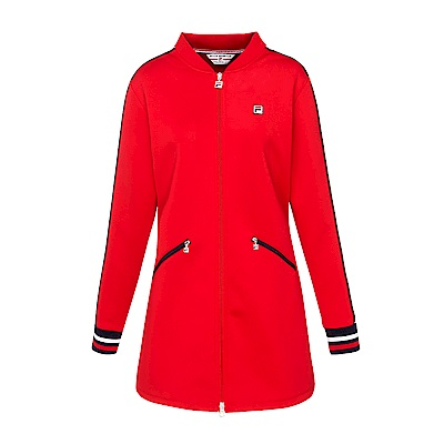 FILA 女款長版外套-紅 5JKS-5416-RD