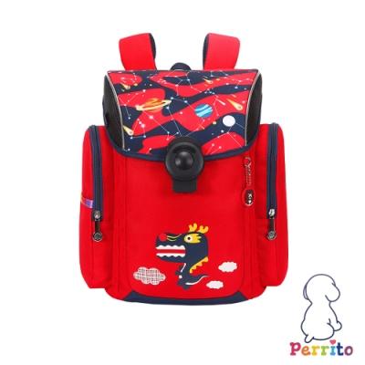 Perrito「彩虹學園」太空核心護脊兒童書包 (紅色)