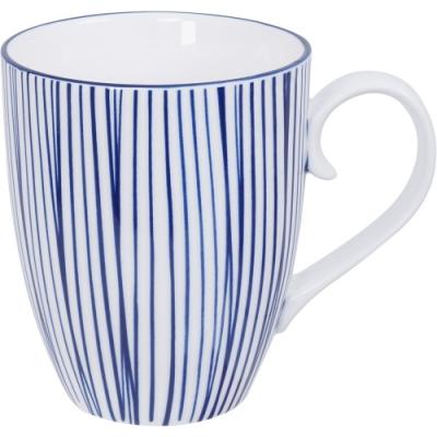 《Tokyo Design》瓷製馬克杯(線紋藍325ml)