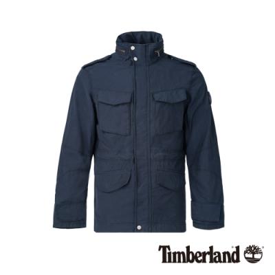 Timberland 男款深寶藍可收納戶外夾克 A1NDM