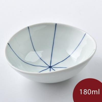 康創陶 和食器 前菜碗 藍線 180ml
