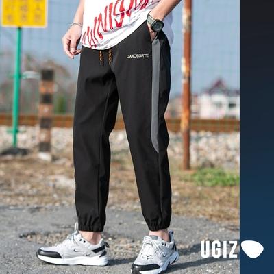 UGIZ男裝-時尚潮流休閒簡約口袋撞色造型縮口褲-2色(M-2XL)