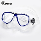 ADISI WM21 雙眼面鏡 透明/深藍框(蛙鏡、浮潛、潛水、戲水、泳鏡、潛水面鏡)