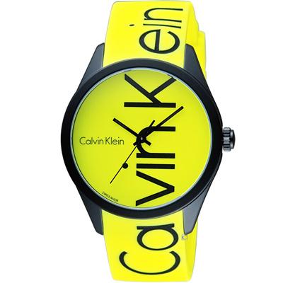 Calvin Klein K5E color 炫彩系列腕錶(K5E51TFY)黃