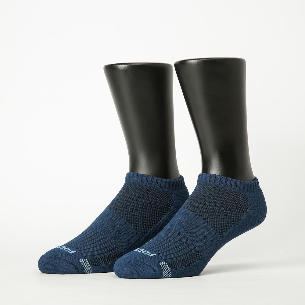 Footer除臭襪-單色運動逆氣流氣墊船短襪加大款-六雙入(黑*2+白*2+藍*2)