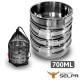 韓國SELPA 304不鏽鋼四件式碗 700ml 摺疊把手 product thumbnail 1