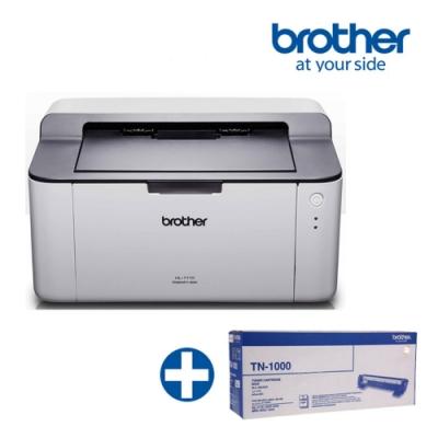 BROTHER HL-1110黑白雷射印表機 +TN-1000原廠碳粉匣超值組