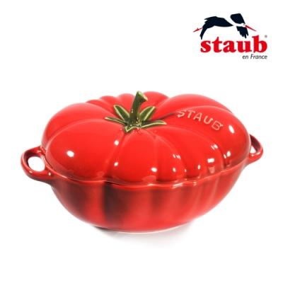 法國Staub 蕃茄造型陶缽 19cm 櫻桃紅
