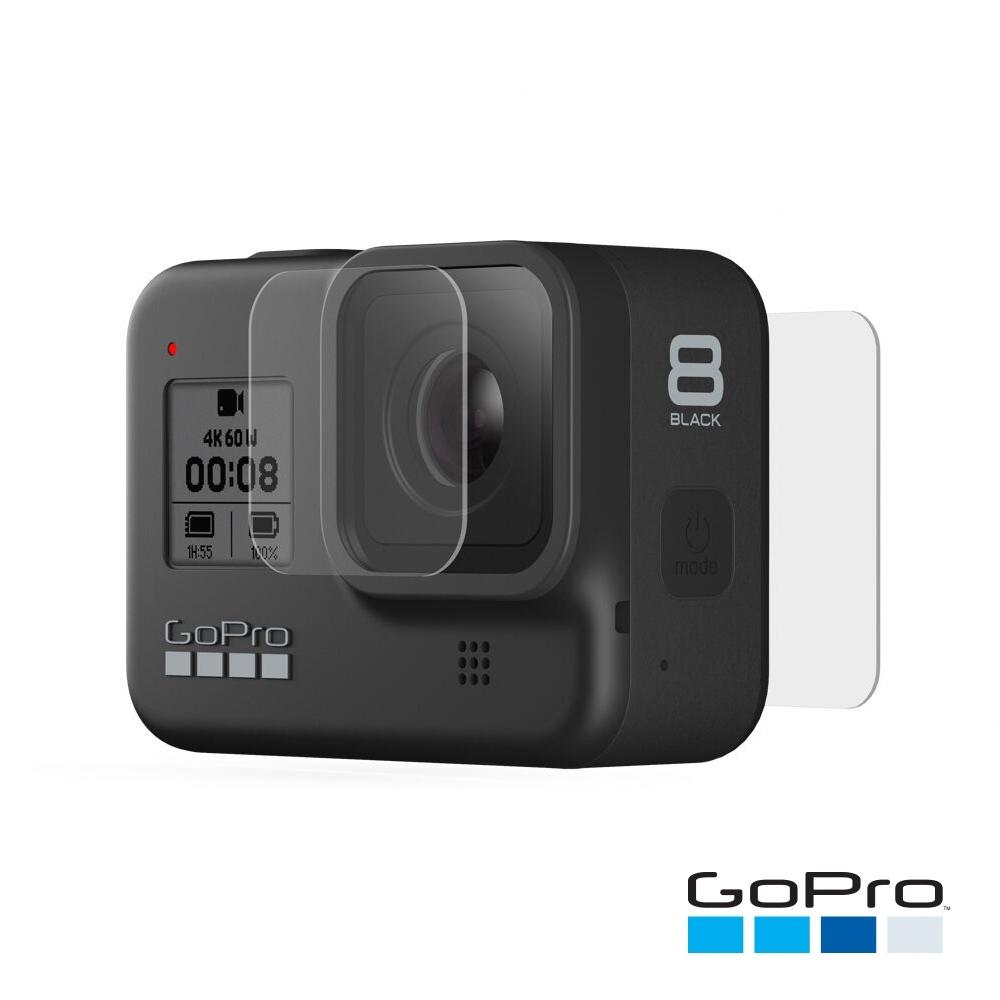 GoPro-HERO8 Black強化玻璃鏡頭+螢幕保護貼AJPTC-001