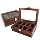低調奢華 手錶收藏盒 配件收納 腕錶收藏盒 8入收藏 實木質感 - 紅褐木色
