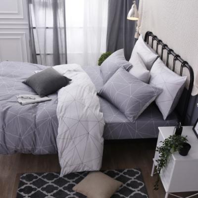 喬曼帝Jumendi 台灣製100%純棉單人三件式床包被套組(心之戀曲)