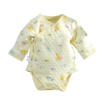 台灣製三層棉厚款純棉護手連身衣 b0211 魔法Baby
